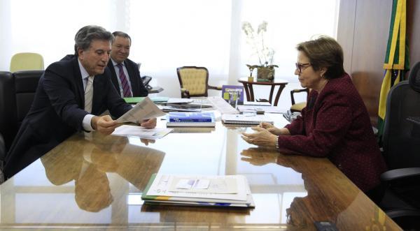 Murilo Zauith apresenta no Ministério da Agricultura projetos de infraestrutura para assentamentos
