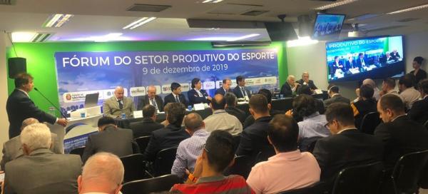 Dretor-presidente da Fundesporte reúne-se com gestores no Fórum do Setor Produtivo do Esporte