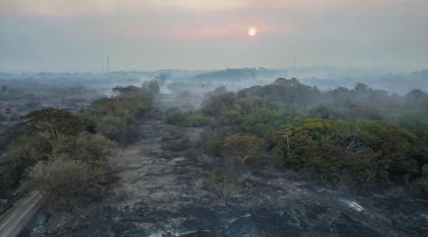 Com incêndio se propagando no Pantanal, tempo seco será crítico em MS até setembro