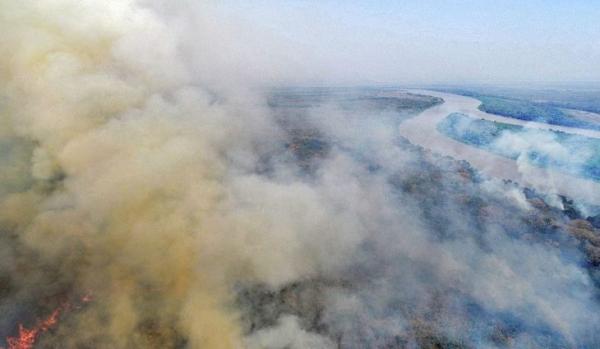 Em uma semana operação Pantanal II reduz de 163 para 40 os focos de incêndio em Corumbá
