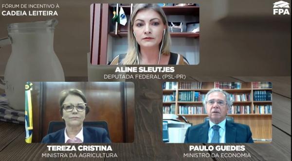 Agro manteve prateleiras cheias e exportações brasileiras na pandemia, diz Paulo Guedes