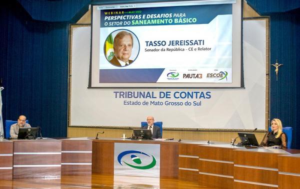 TCE-MS reúne em webinar especialistas em saneamento básico