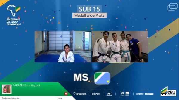 Nacional de Judô Funcional rende três pódios a Mato Grosso do Sul