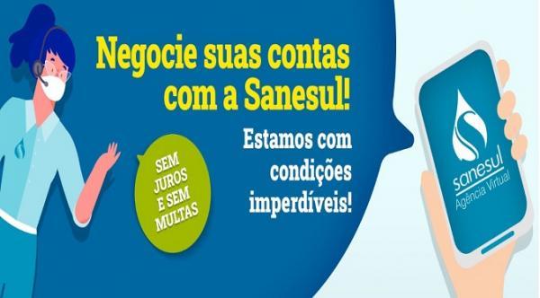 Parcelamento de contas atrasadas com a Sanesul termina 31 de dezembro