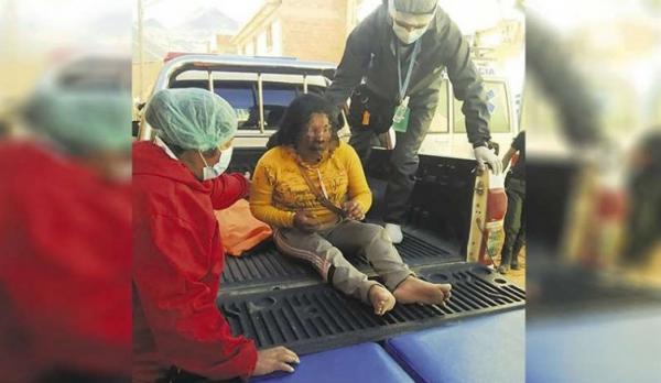 Na Bolívia homem é queimado vivo