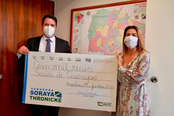 Soraya empenha emenda no valor de R$ 100 mil para a saúde de Caarapó