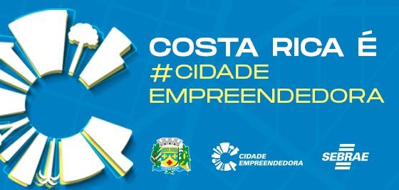 Prefeitura Municipal de Costa Rica adere ao Cidade Empreendedora