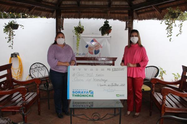 Soraya Thronicke destina R$ 100 mil para Casa do Aconchego de Campo Grande