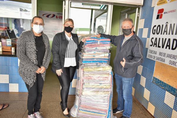 Sindifiscal-MS doou 50 cobertores para famílias carentes em Sonora