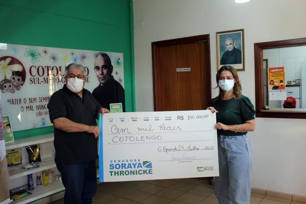 Soraya contempla com R$ 200 mil em emendas o Cotolengo e a SIRPHA Lar do Idoso na Capital?