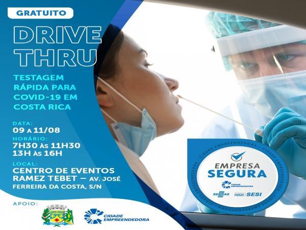 Sesi, em parceria com Sebrae e prefeitura, promove drive thru para testagem de covid-19