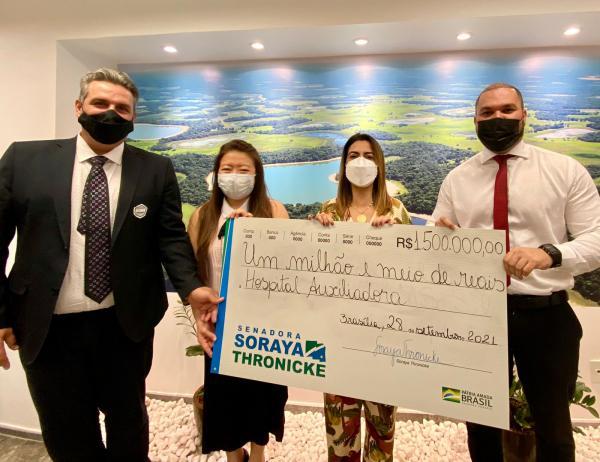 Soraya já destinou R$ 1,5 milhão ao Hospital Auxiliadora de Três Lagoas
