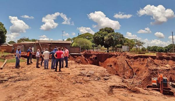 MS Pantanal reconstrói rede de esgoto destruída por voçoroca em Nova Andradina
