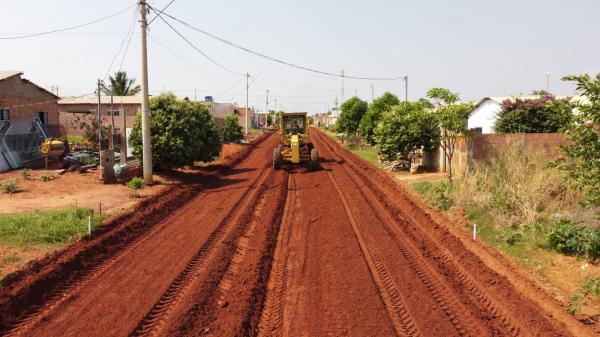 Novo Tempo I começa a receber terraplanagem para a construção de asfalto