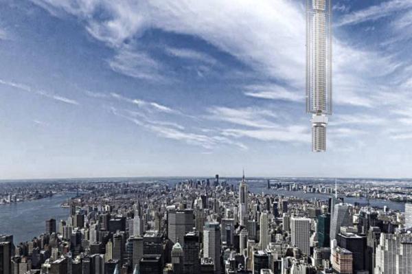 Conheça o arranha-céu do futuro que fica pendurado em asteroide