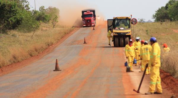 Obras da rodovia que liga Santa Rita a Bataguassu seguem a todo vapor