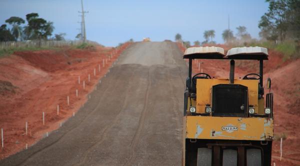 Pavimentação da Estrada do Curê em Bonito está 70% concluída