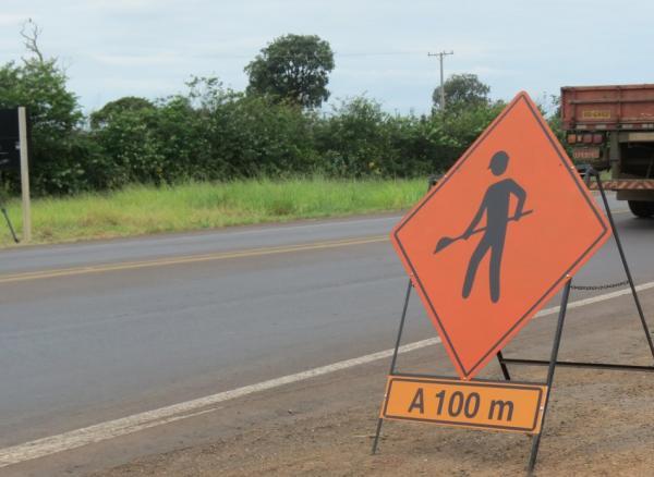 Pontos em obras exigem interferência no tráfego da BR-163/MS