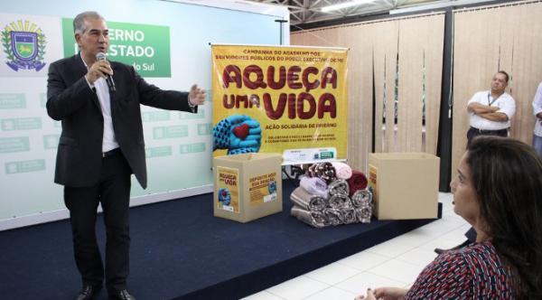 Com expectativa de participação recorde, Reinaldo Azambuja lança 4ª edição da Campanha do Agasalho