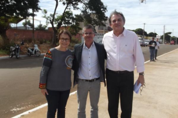 Senador Moka participou de atos políticos no município