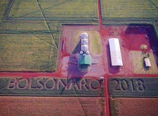 Fazendeiro escreveu nome de Bolsonaro em plantação de MS
