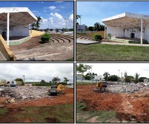 Concha acústica do município é demolida