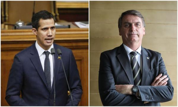 Bolsonaro e Guaidó apontam culpa do PT no colapso da Venezuela