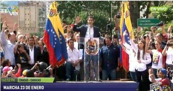 Guaidó usa redes sociais para obter mais apoio na Venezuela
