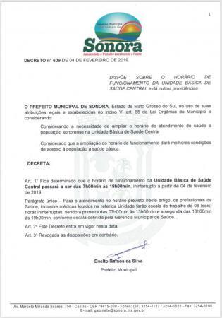 Novo horário de atendimento de posto de saúde entrou em vigor hoje