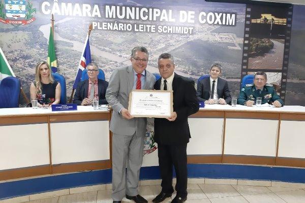 Deputado Evander Vendramini recebeu título de cidadão coxinense